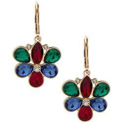 Gloria Vanderbilt Flower Stone Drop Earrings