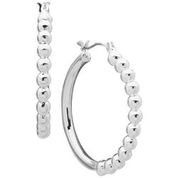 Gloria Vanderbilt Perl Hoop Earrings