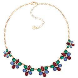 Gloria Vanderbilt 16'' Flower Stone Necklace