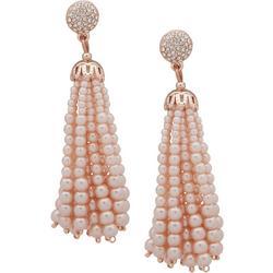 Faux Pearl Tassel Earrings