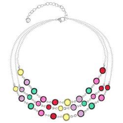 Gloria Vanderbilt 3 Row Colorful Bead Necklace