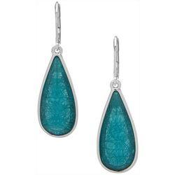 Gloria Vanderbilt Turquoise Long Teardop Earrings