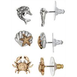 Napier 3-pc. Coastal Shell Earring Set