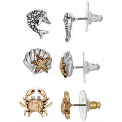 3-pc. Coastal Shell Earring Set