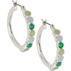 Chaps Dotted Hoop Earrings