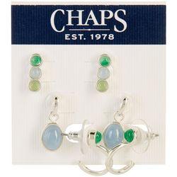 Chaps 3-Pc. Dot Earrings Set