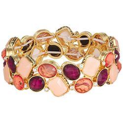 Napier Goldtone Oval & Rectangle Stretch Bracelet