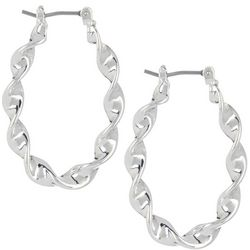 Napier Small Twisted Hoop Earrings
