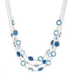 Gloria Vanderbilt Cool Tone Layered Frontal Necklace