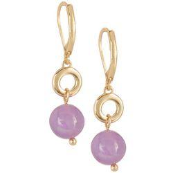 Napier Gold Tone Spherical Drop Earrings