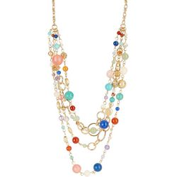 Napier Chunky Tiered Beaded Necklace