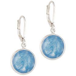 Gloria Vanderbilt Marbled Disc Earrings