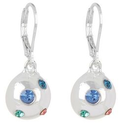Gloria Vanderbilt Colorful Rhinestone Drop Earrings