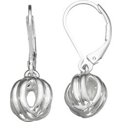 Napier Silver Tone Twist Ball Drop Earrings