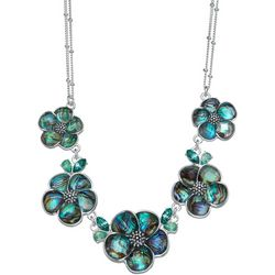 Napier Multi Abalone Flower Frontal Necklace