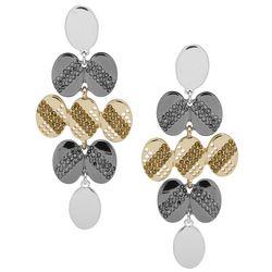 Nine West Oval Chandelier Earrings