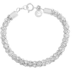 Gloria Vanderbilt Clear Mesh Chain Bracelet