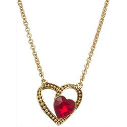 Napier Goldtone Heart In A Heart Rolo Chain Necklace