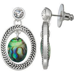 Napier Abalone Oval Post Drop Earrings