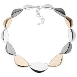 Tri-Tone Collar Necklace