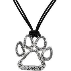 Pet Friends Paw Print Pendant Cord Necklace