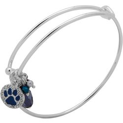 Pet Friends Blue Stone Paw & Bead Charm Bangle