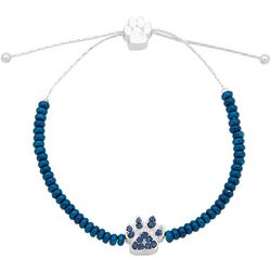 Pet Friends Blue Pawprint Pull Slide Bracelet