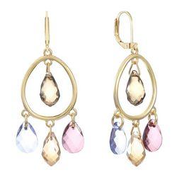 Gloria Vanderbilt Orbital Faceted Jewel Earrings