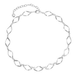 Gloria Vanderbilt Rectangular Silver Tone Collar Necklace