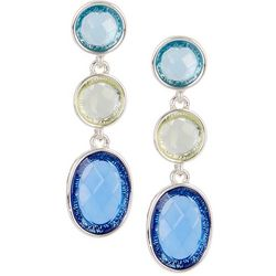 Gloria Vanderbilt Triple Cabochon Drop Earrings