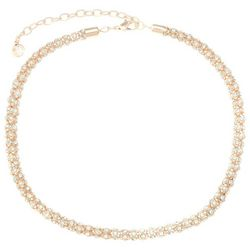 Gloria Vanderbilt Rose Gold Tone Mesh Chain Necklace