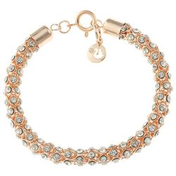 Gloria Vanderbilt Rose Gold Tone Mesh Chain Bracelet