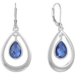 Gloria Vanderbilt Blue Dangle Teardrop Earrings
