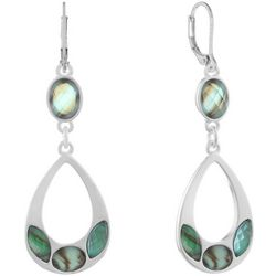 Gloria Vanderbilt Silver Tone Shell Teardrop Earrings