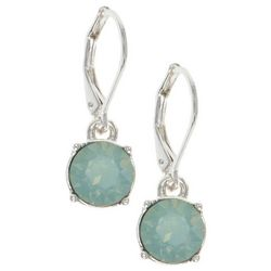Gloria Vanderbilt Green Crystal Elements Earrings