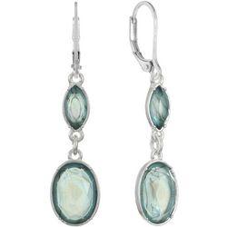 Gloria Vanderbilt Aqua Double Drop Earrings