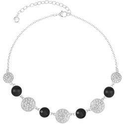 Gloria Vanderbilt Black Facet & Crystal Necklace