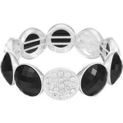 Gloria Vanderbilt Black Facet & Crystal Bracelet