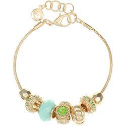Gloria Vanderbilt Aqua Green Bead Slider Bracelet