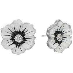 Gloria Vanderbilt White Multi Flower Stud Earrings