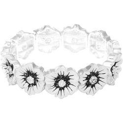 Gloria Vanderbilt White Flower Stretch Bracelet