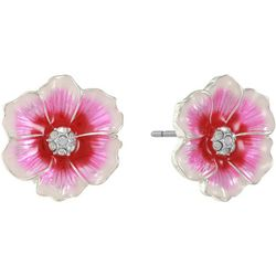 Gloria Vanderbilt Pink Multi Flower Stud Earrings