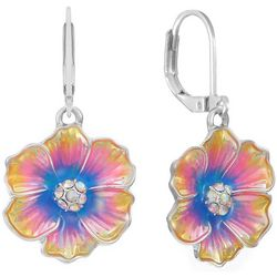 Gloria Vanderbilt Spring Multi Flower Drop Earring