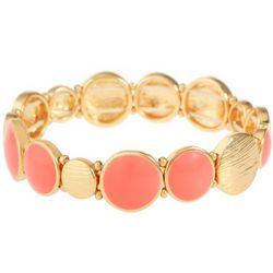 Gloria Vanderbilt Coral Enamel Stretch Bracelet