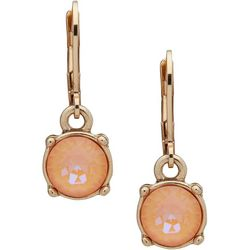 Gloria Vanderbilt Peach Delight Drop Earrings