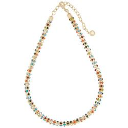 Multi Color Mesh Chain Necklace
