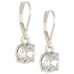 Gloria Vanderbilt Clear Crystal Drop Earrings