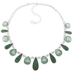Gloria Vanderbilt Green Multi Teardrop Necklace