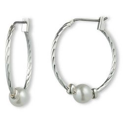 Gloria Vanderbilt Twist Ball Hoop Earrings