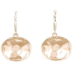 Gloria Vanderbilt Hammered Disc Drop Earrings